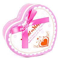 Подарочная коробочка в форме сердца розовая