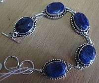"Классический браслет ""Синий"" с  яркими  сапфирами от студии LadyStyle.Biz, фото 1"
