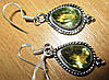 """Элегантные серьги с зеленым аметистом """"Весеннее"""" от Студии  www.LadyStyle.Biz"""