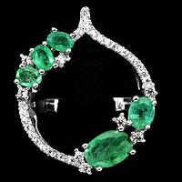 """Необычное кольцо с изумрудами  """"Луковка"""" , размер 18 от студии LadyStyle.Biz, фото 1"""