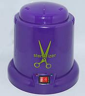 Стерилизатор пластиковый шариковый кварцевый для маникюрного инструмента, фиолетовый