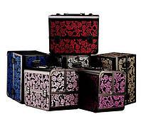 Чемодан металлический раскладной Розы, маникюрная сумка для мастера, цвета в ассортименте