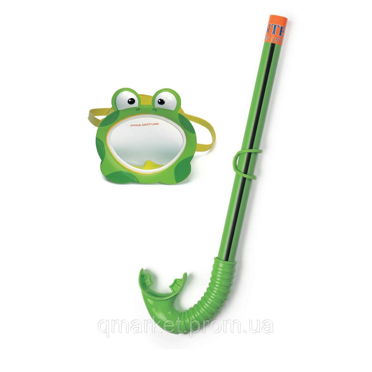 Набор для плавания (маска + трубка) Intex 55940, набор для подводного плавания для детей 3-8 лет  - Интернет-магазин «Qmarket» в Одессе