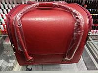 Чемодан, маникюрная сумка для мастера, кож.зам, матовый, красный цвет