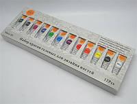 Краски гелевые для маникюра по 5 гр, 12 шт в наборе