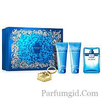 Versace Man Eau Fraiche SET (EDT 100ml + AFTER SHAVE BALM 100ml + SHOWER GEL 100ml + брелок) (ORIGINAL)