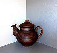 """Чайник глиняний """"без декору""""0,5л"""