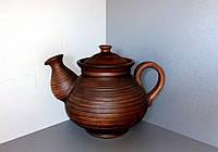 """Чайник глиняний """"без декору""""1,5л"""