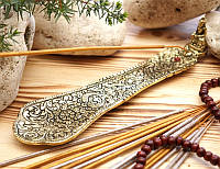 Подставка для ароматических палочек, желтая - Будда #2