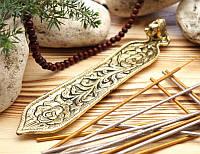 Подставка для ароматических палочек, желтая - Слон #3