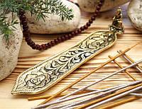 Подставка для ароматических палочек, желтая - Будда #3