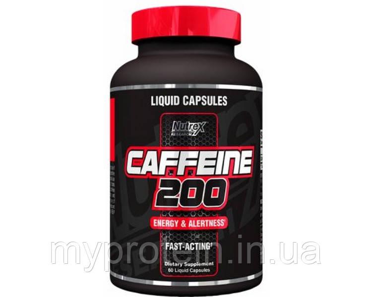 Nutrex Энергетики Caffeine 200 (60 liquid caps)
