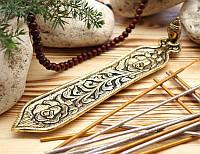 Подставка для ароматических палочек, желтая - Голова Будды #3