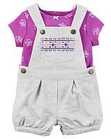 """Трикотажный комплект одежды для девочки Carters """"Зайка"""""""