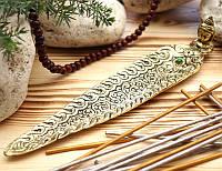 Подставка для ароматических палочек, желтая - Голова Будды #4