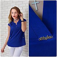 Блузка женская, модель 903, ярко-синий