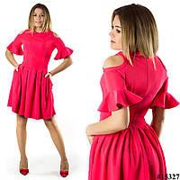 Коралловое платье 15327