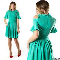 Бирюзовое платье 15327