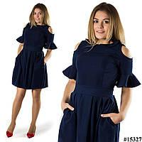 Темно-синее платье 15327
