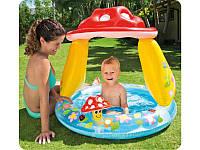 Детский басейн грибочек Intex 57114 с крышей 102*89 см