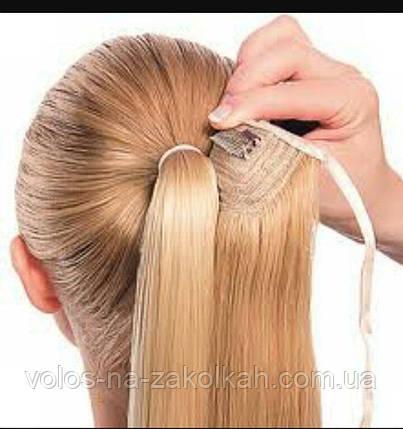 Хвост накладной на ленте цвет №25 песочный блондин, фото 2
