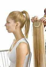 Хвост накладной на ленте цвет №25золотистый блонд