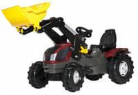 Трактор з ковшем Rolly Toys rollyFarmtrac Valtra T213 сірий-бордо