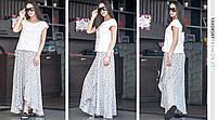 Женская летняя длинная лёгкая юбка в разных цветах