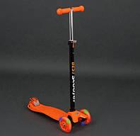 Детский трехколесный самокат Best Scooter Maxi 466-113 оранжевый