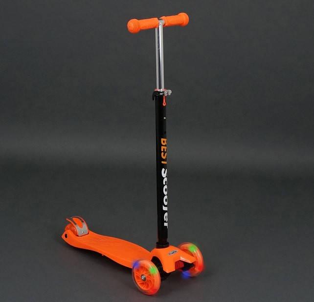 Детский трехколесный самокат Best Scooter Maxi 466-113 оранжевый, фото 1