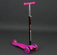 Детский трехколесный самокат Best Scooter Maxi 466-113 розовый