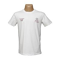Мужская белая спортивная футболка Турция 14015-1