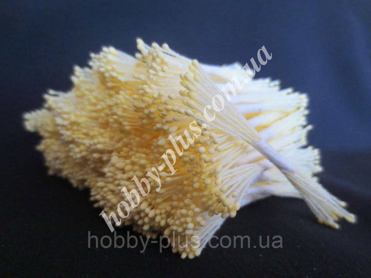 Тайские тычинки, СВЕТЛО-ЖЕЛТЫЕ, мелкие на светло-желтой нити, 23-25 нитей, 50 головок