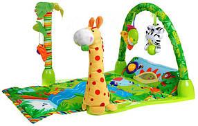Развивающий коврик для малышей Тропический лес 3059 прямоугольный, музыка