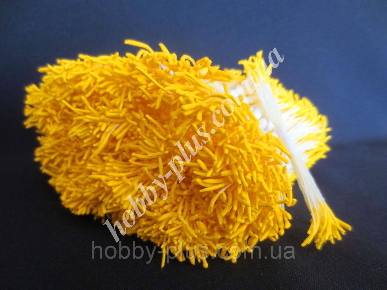 Тайские тычинки, ЖЕЛТЫЕ, удлиненные на светло-желтой нити, 23-25 нитей, 50 головок