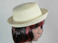 Соломенная шляпа Котелок 27 см бежевый