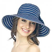 Полосатая синяя женская шляпа Brezza