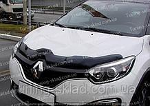 Дефлектор Рено Каптюр (мухобойка на капот Renault Captur)