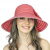 Полосатая красная женская шляпа Brezza