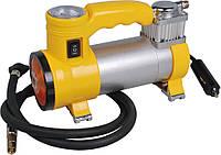 Миникомпрессор автомобильный с фонариком 2 в 1, 12В, 10бар, 35л/мин (Miol 81-117)