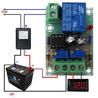 Умное реле контроля зарядного устройства по напряжению аккумулятора 12 В