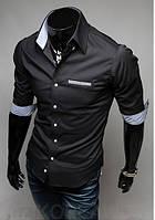 Черная рубашка с коротким рукавом, фото 1