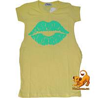 """Летняя туника """"Sweet Lips"""" , из трикотажа , для девочек (5-8 лет) 4 ед. в уп."""