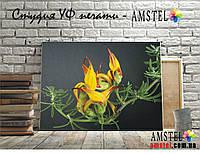 Интерьерная печать на холсте с подрамником нефритовый цветок (30x40)