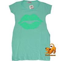 """Детская летняя туника """"Sweet Lips"""" , из трикотажа , для девочек (5-8 лет) 4 ед. в уп.."""