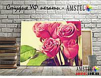 Интерьерная печать на холсте с подрамником Pink roses (30x40)
