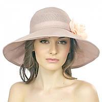 Фиолетовая летняя женская шляпа с цветком Brezza