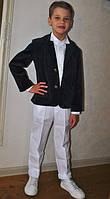 Вельветовый пиджак для мальчика темно-синий