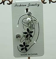 Женские цветочные серьги каффы 43