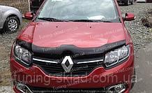 Дефлектор Рено Сандеро 2 (мухобойка на капот Renault Sandero 2)